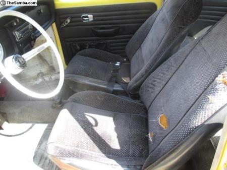 1968 VW Type 1 Beetle interior
