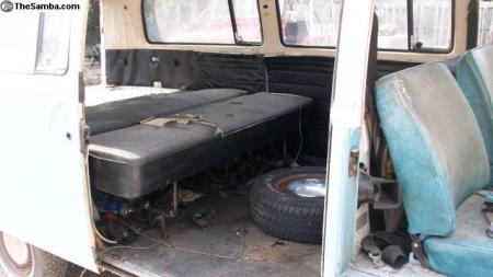 1971 VW Type 2 Bus interior