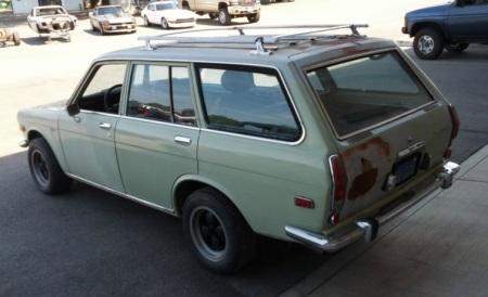 1972 Datsun 510 wagon left rear