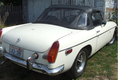 1972 MGB right rear