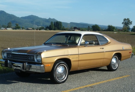 1974 Plymouth Gold Duster left front