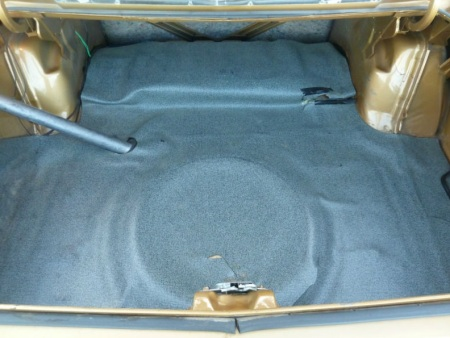 1974 Plymouth Gold Duster trunk