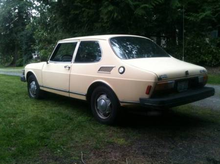 1980 Saab 99 GLi left rear