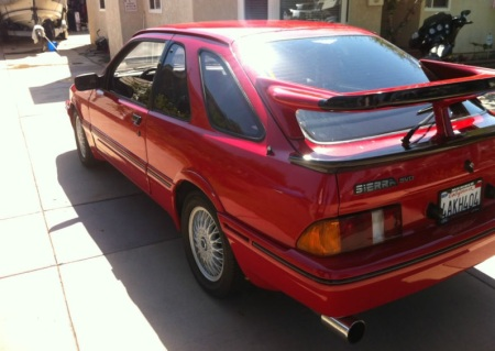 1985 Merkur XR4Ti left rear