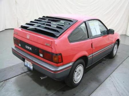 1986 Honda CR-X right rear