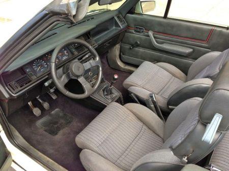 1987 Renault Alliance GTA white interior