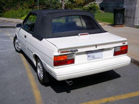 1987 Renault Alliance GTA white left rear