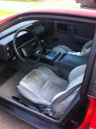 1988 Pontiac Fiero interior
