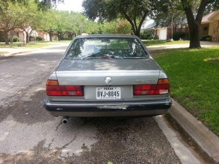 1989 BMW 750iL rear