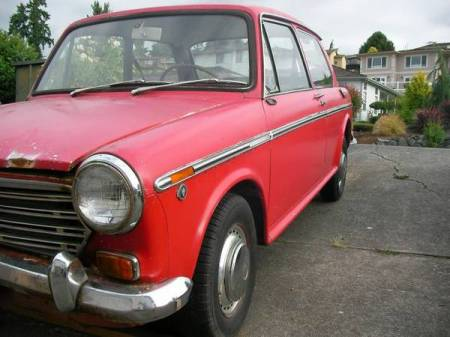1969 Austin America red left front