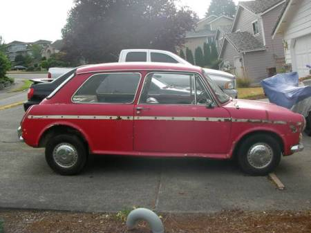 1969 Austin America red right side