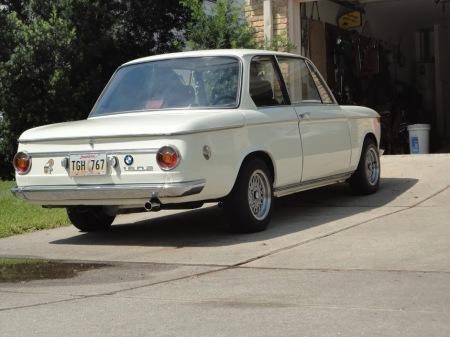 1969 BMW 1602 right rear