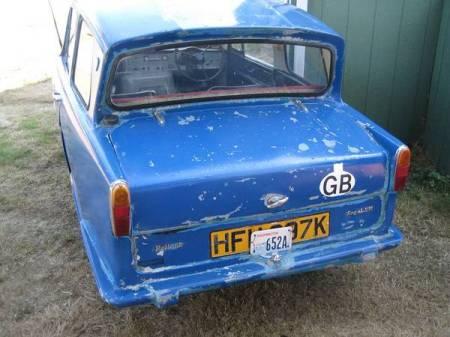 1972 Reliant Regal left rear