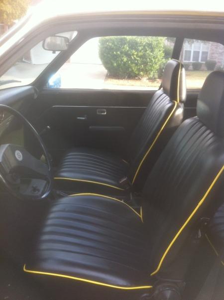 1974 Opel Manta interior