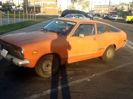 1975 Datsun B210 orange