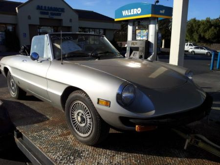 1978 Alfa Romeo Spider silver right front