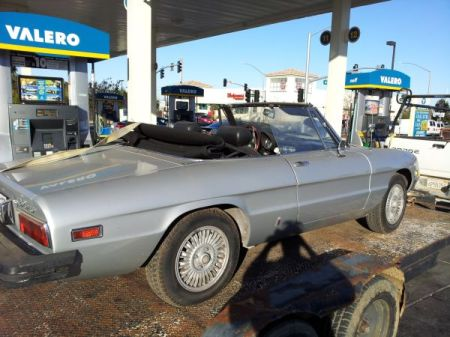 1978 Alfa Romeo Spider silver right rear