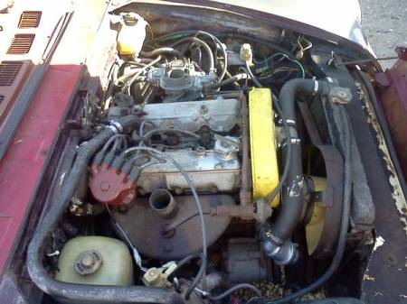 1978 Fiat Spider engine