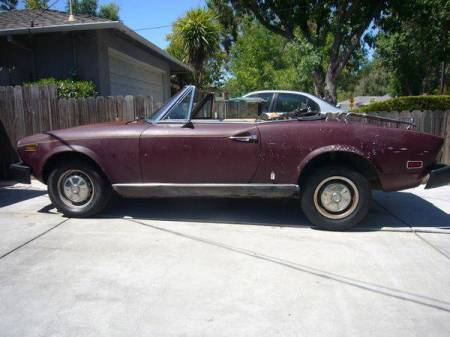 1978 Fiat Spider left side