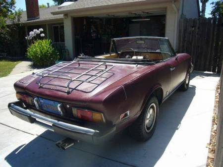 1978 Fiat Spider right rear