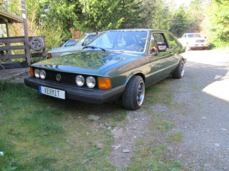 1980 VW Scirocco green left front