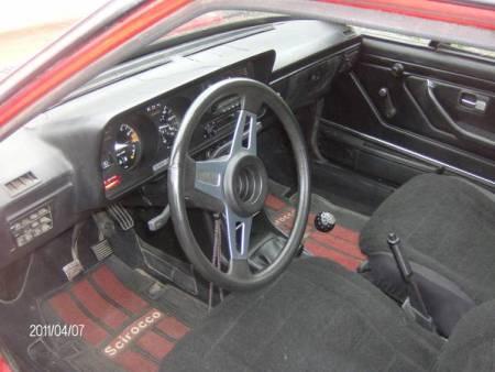 1980 VW Scirocco interior