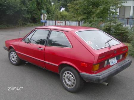 1980 VW Scirocco left rear