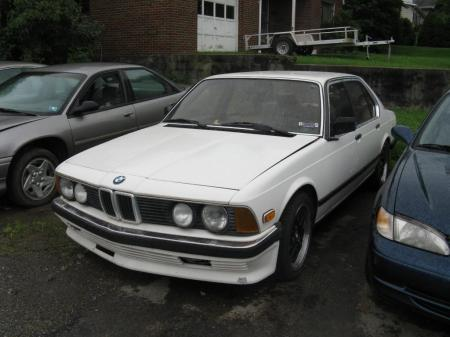 1984 BMW 745i 5spd left front