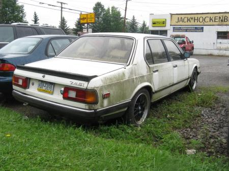 1984 BMW 745i 5spd right rear