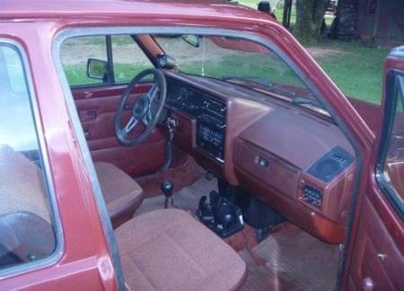 1984 Volkswagen Rabbit TDI interior