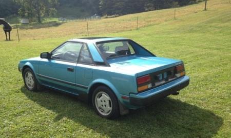 1985 Toyota MR2 left rear