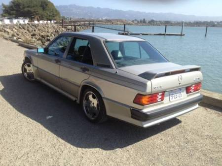 1986 Mercedes 190E 2.3-16 left rear