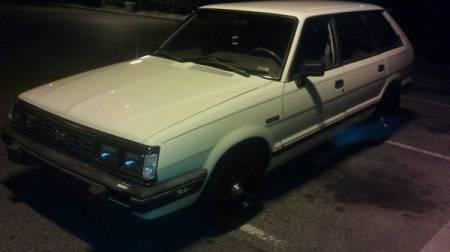 1986 Subaru GL wagon left front