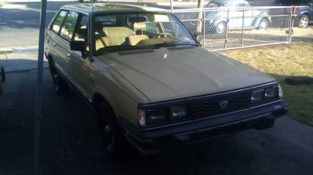 1986 Subaru GL wagon right front