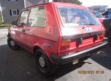 1986 Yugo GV left rear