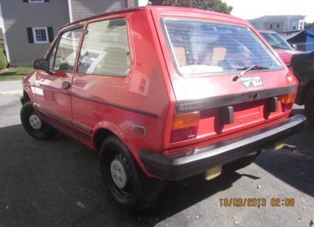 1986 Yugo GV left rear