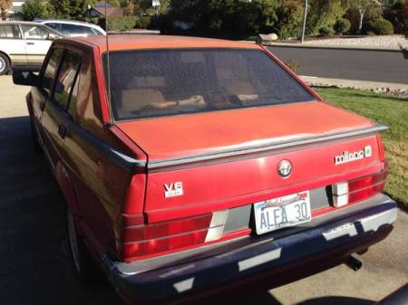 1987 Alfa Romeo Milano Verde left rear