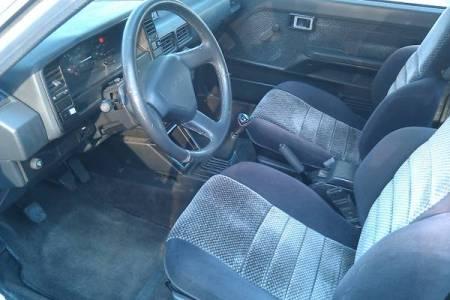 1987 Toyota Corolla FX16 GTS silver interior