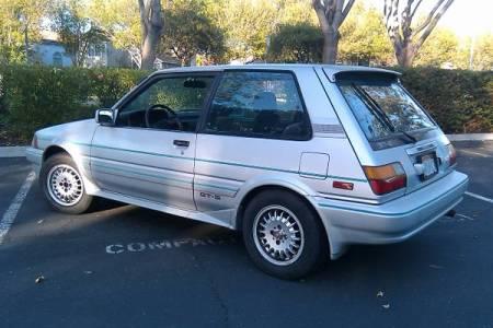 1987 Toyota Corolla FX16 GTS silver left rear