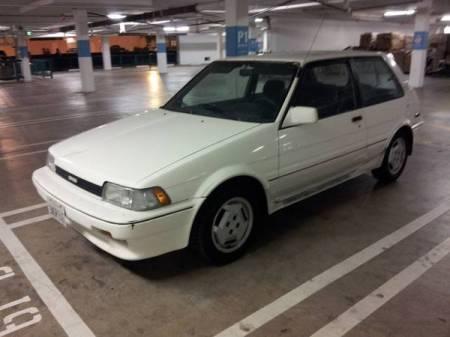 1987 Toyota Corolla FX16 GTS white left front