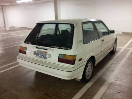 1987 Toyota Corolla FX16 GTS white right rear