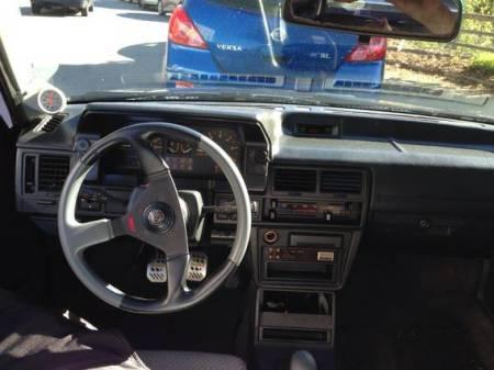 1988 Mazda 323 GTX black interior