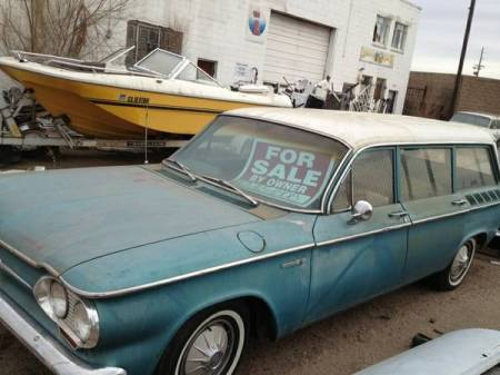 1961 Chevrolet Corvair Lakewood left front for sale