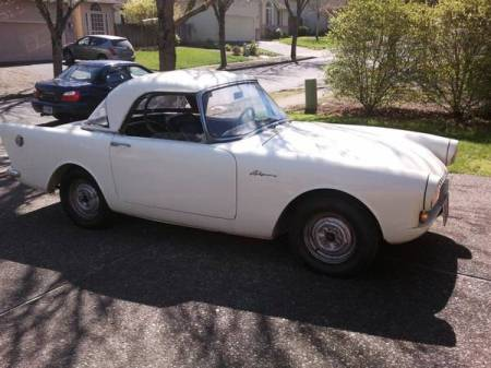 1961 Sunbeam Alpine for sale right front