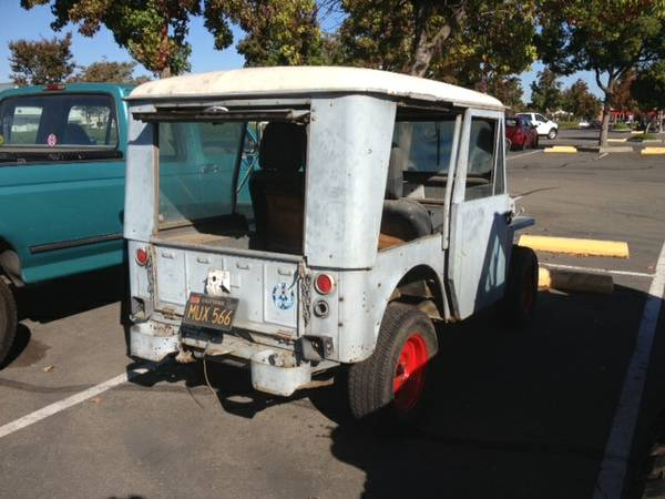 Delivery Willys Jeep Dj 3a Rusty But Trusty