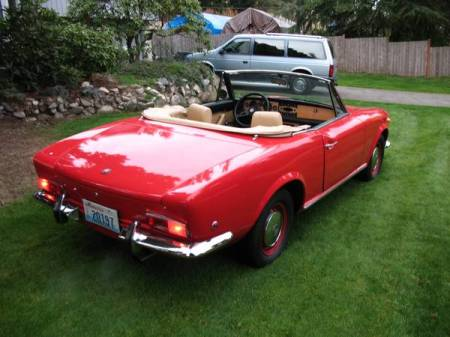1967 Fiat Spider right rear for sale