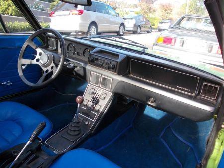 1974 Fiat X1-9 interior