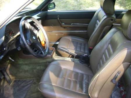 1980 BMW 633 CSi for sale interior