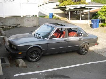 1986 BMW 535i left front