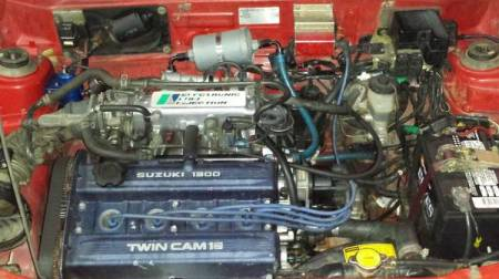1986 Chevrolet Sprint Turbo modified engine